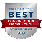 Best Online Masters 2019 Construction Management Badge
