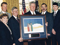 1996 Clinton and Painting