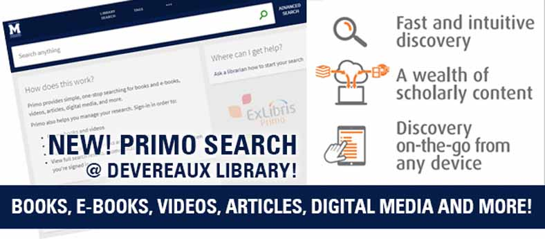 Library Primo Search
