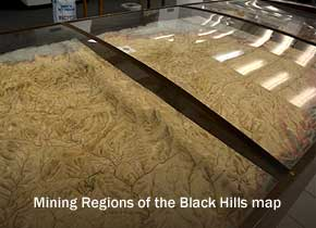 Black Hills Region Mining Map