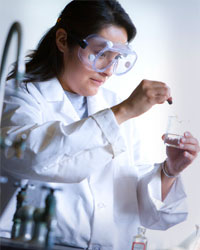 Native American Chemistry Student