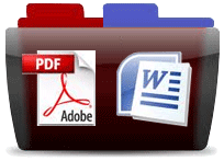 PDF WORD Files Large - transparent