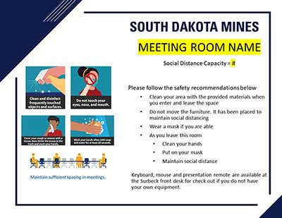 Meeting Room And Classroom Signage Template