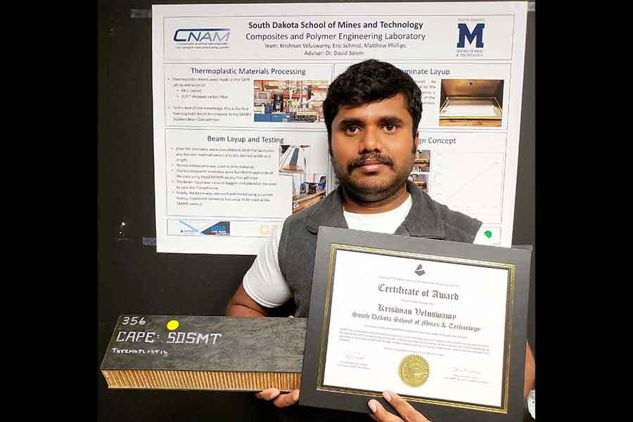 Composite Bridge Winners Use Lightweight, Strong, Inexpensive Material Developed at SD Mines